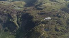 AERIAL United Kingdom-Innominate Tarn Stock Footage