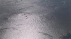 AERIAL United Kingdom-Crossing Morecambe Bay Stock Footage
