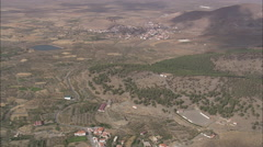 Approaching La Calahorra And Castle Stock Footage