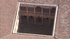 AERIAL Spain-Flight Over Calahorra Castle Stock Footage