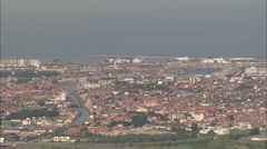 AERIAL France-Calais And Harbour Stock Footage