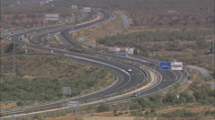 AERIAL Spain-A92 Motorway Stock Footage