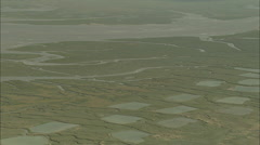 AERIAL France-Bay Of Somme Stock Footage