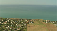 AERIAL France-Ault And Cliffs Stock Footage