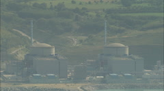 AERIAL France-Penly Nuclear Power Plant - stock footage