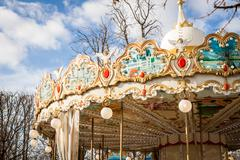 Ornate carousel or merry-go-round Kuvituskuvat