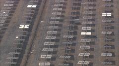 AERIAL Spain-Solar Platform Of Almeria Stock Footage