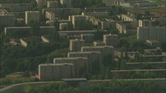 AERIAL France-Rouen Hlm Social Housing Stock Footage