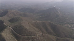 AERIAL Spain-Mountains In Sea Mist Stock Footage