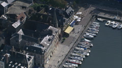 AERIAL France-Honfleur Stock Footage