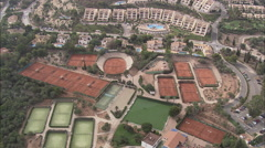 AERIAL Spain-La Manga Golf And Sporting Complex Stock Footage