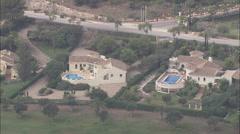 AERIAL Spain-La Manga Resort Villas And Apartments Stock Footage