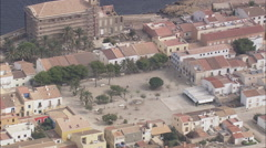AERIAL Spain-Tabarca Stock Footage