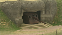 AERIAL France-WW2 Bunkers Stock Footage