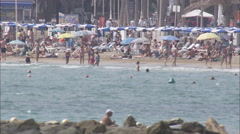 AERIAL Spain-Alicante Beach Stock Footage