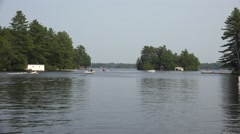 Pleasure boats on Lake Muskoka - Segment 1 Stock Footage