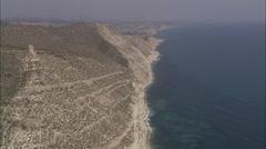AERIAL Spain-Descending Towards Cala Finestrat Stock Footage