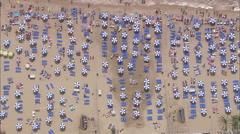 AERIAL Spain-Benidorm Beach Stock Footage