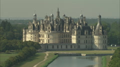 AERIAL France-Flight Over Chateau De Chambord Stock Footage