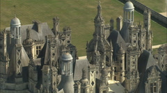 AERIAL France-Chateau De Chambord Stock Footage