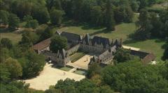 AERIAL France-Chateau De Villesavin Stock Footage