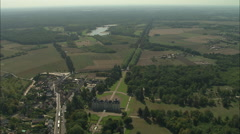 AERIAL France-Chateau De Cheverny Stock Footage
