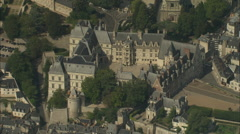AERIAL France-Chateau De Blois Stock Footage