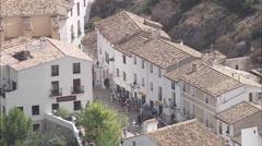 AERIAL Spain-El Castell De Guadalest Stock Footage