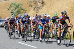 hill climb - stock photo
