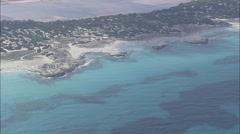 AERIAL Spain-Punta Prima And Platja Des Canyers Stock Footage