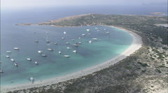 AERIAL Spain-Isla Espalmsdor Stock Footage