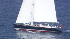 AERIAL Spain-30 Metre Symmetry Yacht - stock footage