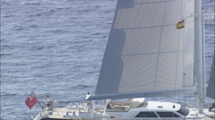 AERIAL Spain-30 Metre Symmetry Yacht Stock Footage