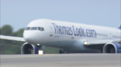 AERIAL Spain-San Jose Airport Stock Footage