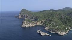 AERIAL Spain-Coastline Stock Footage