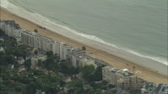 AERIAL France-La Baule-Escoublac Stock Footage
