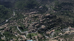 AERIAL Spain-Deia Stock Footage
