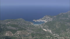AERIAL Spain-Port De Soller Stock Footage