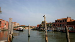Stock Video Footage of Bridge and canal in Murano