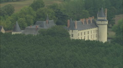 AERIAL France-Chateau De Plessis Bourre Stock Footage