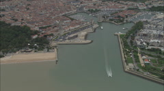AERIAL France-La Rochelle Old Port Stock Footage