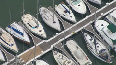 AERIAL France-La Rochelle, port Stock Footage