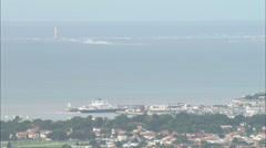 AERIAL France-Royan Stock Footage