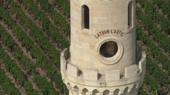 AERIAL France-La Tour L'Aspic Stock Footage