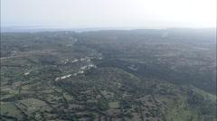 AERIAL Spain-Santuari De Cura Stock Footage