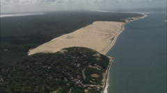 AERIAL France-The Great Dune Of Pyla Stock Footage