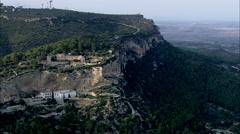 AERIAL Spain-Santuari De Gracia Stock Footage