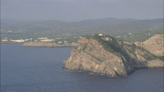 AERIAL Spain-Villa On Cliff Top Stock Footage