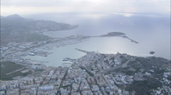 AERIAL Spain-Castle Of Ibiza Stock Footage