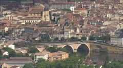 AERIAL France-Bergerac - stock footage